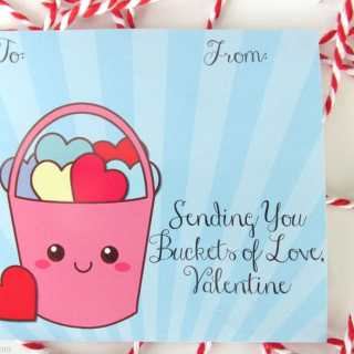 Buckets of Love Free Printable Valentine Cards and Homemade Playdough Recipe