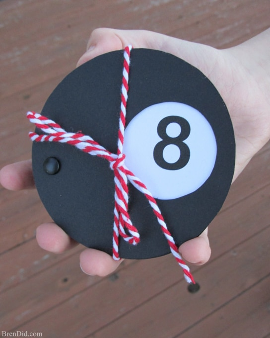 All signs point to a great Valentine's day with these free Magic 8 ball free printable Valentines Cards. It's a quick and easy Valentine craft. You need black and white cardstock, a printer and some <a href=