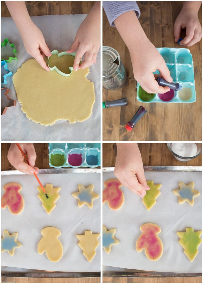 Learn the easy cookie decorating technique that uses less sugar and makes decorating holiday treats with kids fun!