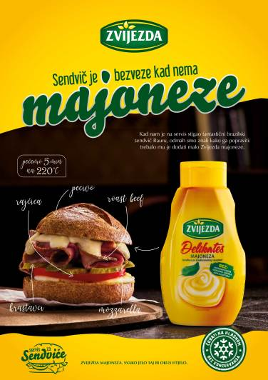 Svaki sendvič je bezveze kad nema ZVIJEZDA majoneze!