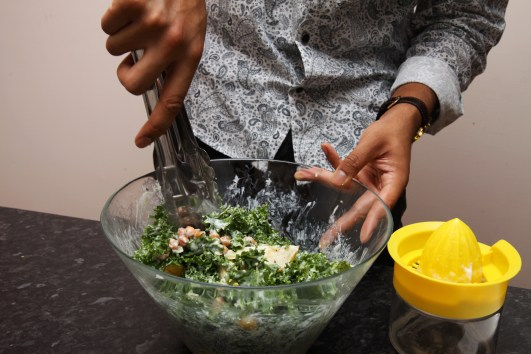 Add the dressing just before serving to ensure the salad stays crisp