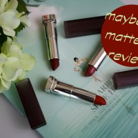 Maybelline Matte Lip Colors