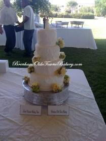 White Texture Wedding Cake