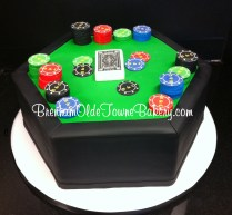 poker table grooms cake