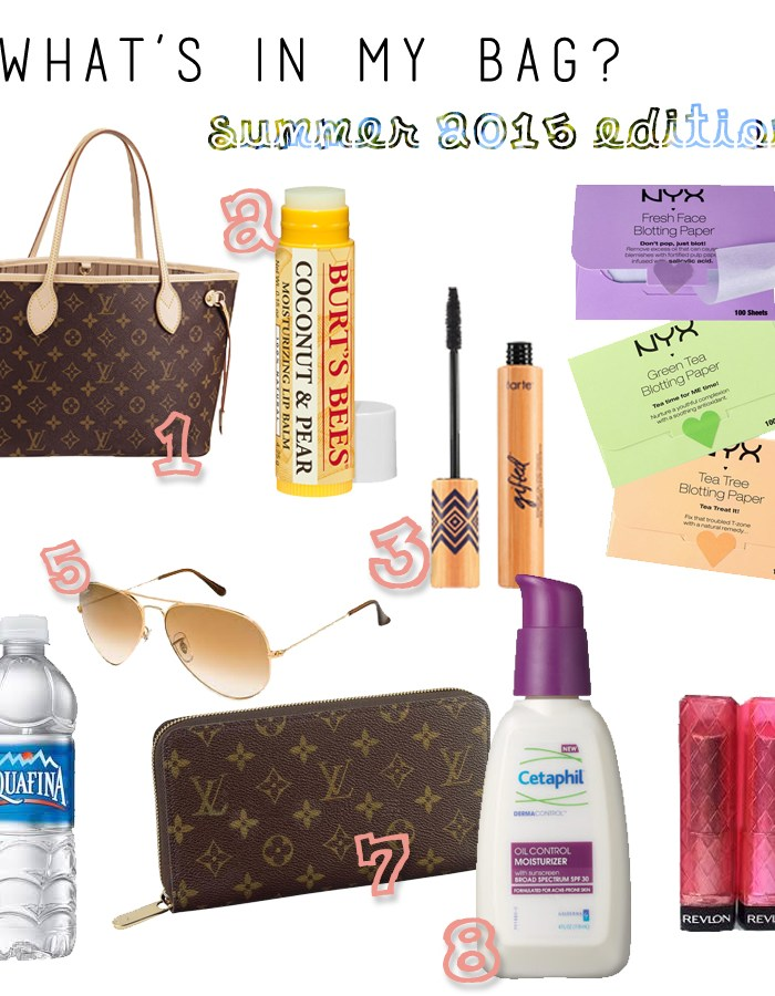 What's in my Bag: Summer 2015 Edition