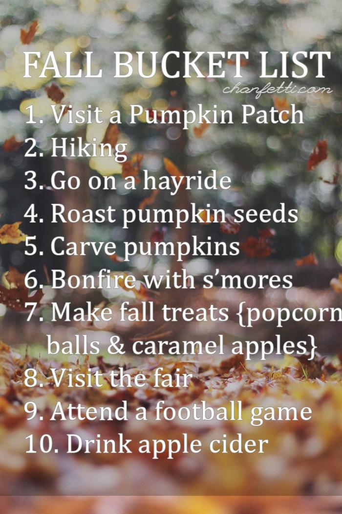 Fall 2015 Bucket List
