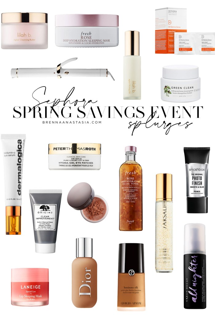Sephora Spring Savings Event Splurges - Brenna Anastasia