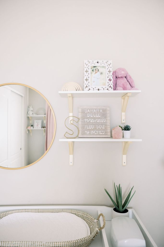 Changing Table Area in Sahara's Nursery | Brenna Heater