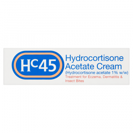 HC45 HYDROCORTISONE ACETATE 1% CREAM 15G