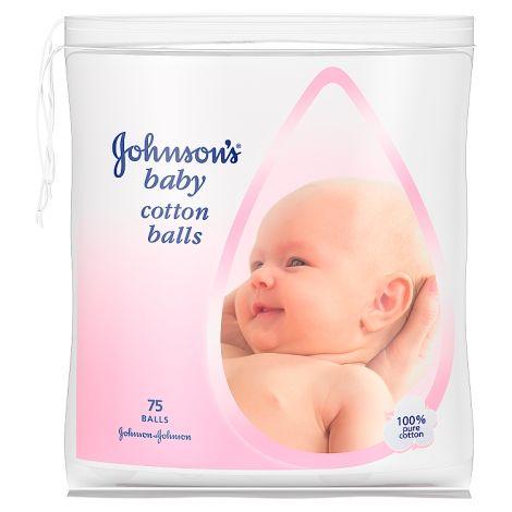 JOHNSONS BABY COTTON BALLS (75's)