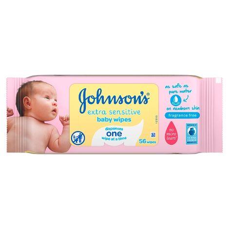 JOHNSONS EXTRA SENSITIVE WIPES (56's)