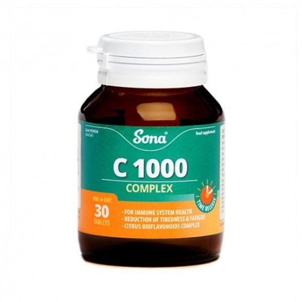 SONA NATURAL VIT C COMPLEX 1000MG TABS (30'S)