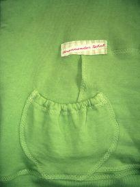 Tasche mit Gummizug Vorderseite Kapuzenhoodie