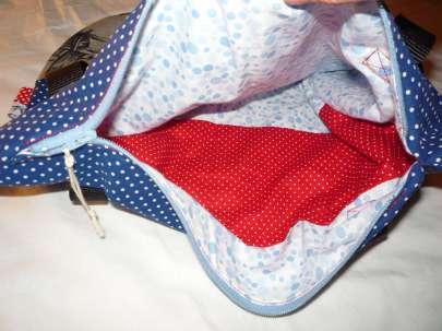Handtasche Ahoi Reißverschluss Innentasche