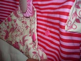 romantische Handtasche Vögel rosa Knopf