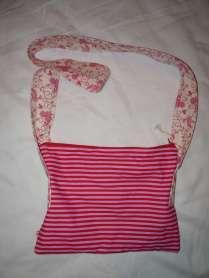 romantische Handtasche Vögel rosa Rückseite Streifen