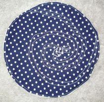 Brennender Schuh - Meer-Handtasche Boden außen blau weiße Punkte Seil Seemannsknoten