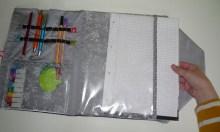 Brennender Schuh - Dokumentenmappe mit Sichtfenster für DIN A 4