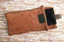 Brennender-Schuh Smartphone-Schutz-Hülle hellbraunes Leder, Sony Xperia, Samsung Galaxy S 5 neo iPhone