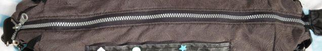 Reißverschluss Wickeltasche - Handtasche, Anthrazit-Mint, selbst genäht