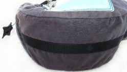 schwarze Wickeltasche - Handtasche unten mit Gurtband, stabil