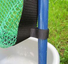 Klett-Befestigung, Dreirad-Tasche, Mesh, Netzstoff, beschichtete Baumwolle, Wachstuch, mit Reißverschluss, Spielplatztasche