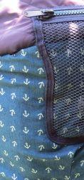 Kinderwagen neuer Stoff - Anker blau Jeans genäht