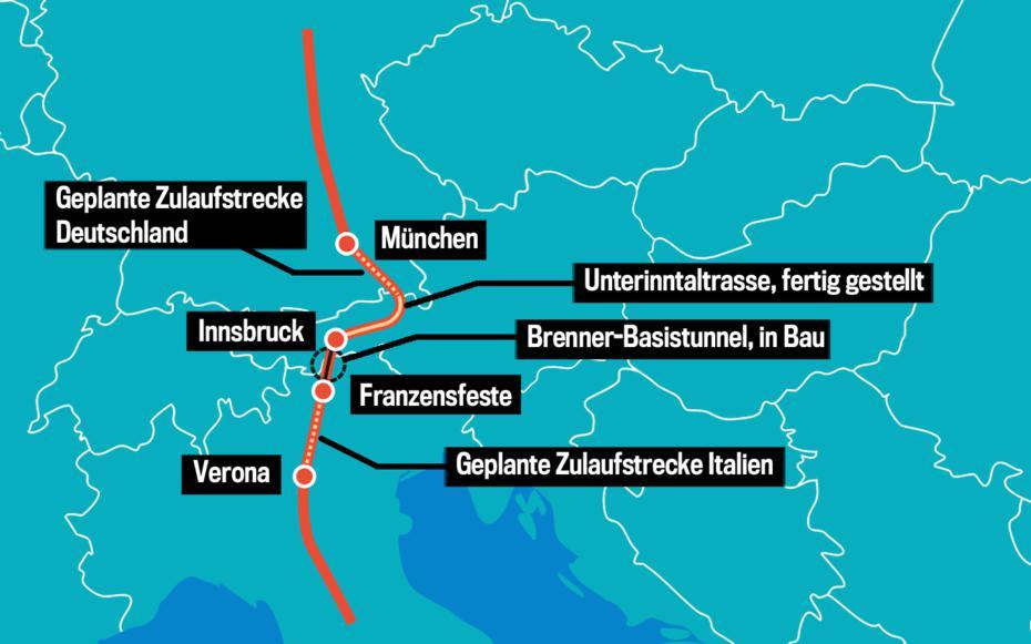 """Die """"Brennerachse"""" © trend"""