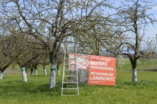 Wertvolle Streuobstwiesen gehören ebenfalls zu den Opfern einer neuen Bahnstrecke. Quelle: Brennerdialog