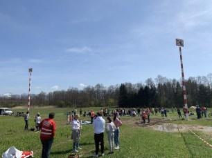 Beide Pylone zeigen die gigantischen Ausmaße des Tunnelportals bei Riedering. Quelle: Brennerdialog