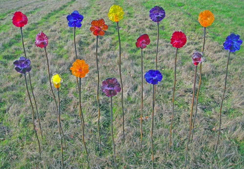 blown glass Garden Flowers