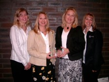 Accepting our Employer of the year award in 2007.