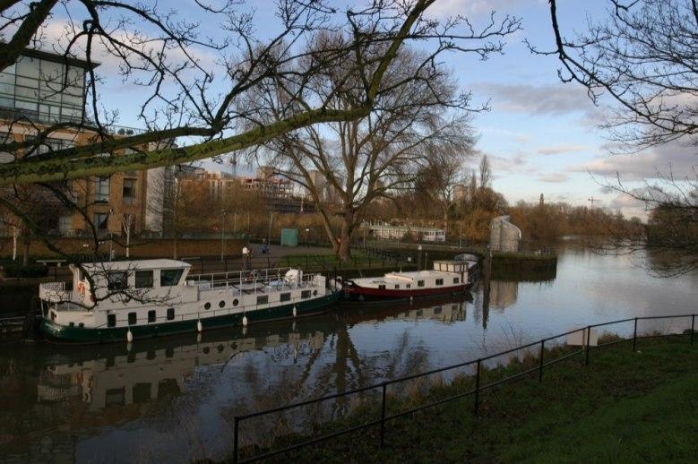 Brentford Dock canal boat