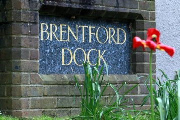 Brentford Dock sign