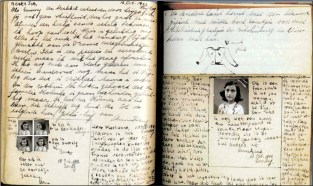 Interior vision of Anne's diary.