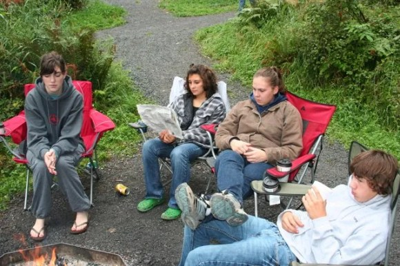 Heather, Mckenzie, Sami, and Trent Relaxing
