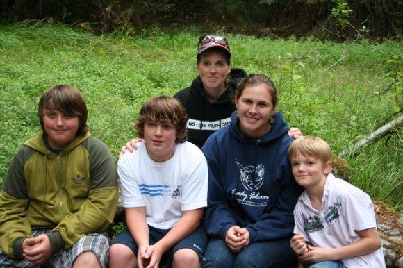 Clay, Justin, Darla, Sami, and Ethan