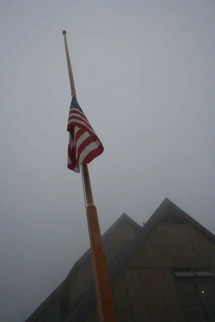 Flag at Jackson Visitor Center
