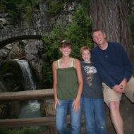 Ashley, Jamison, Brent at Christine Falls (Self-Timer Picture)