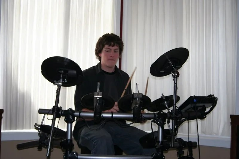 Tyler on Drums