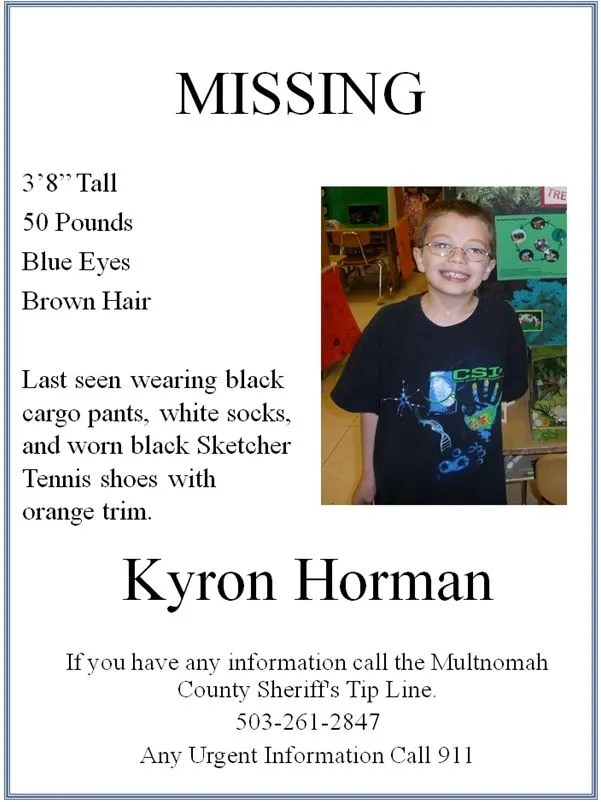 Help Find Kyron Horman