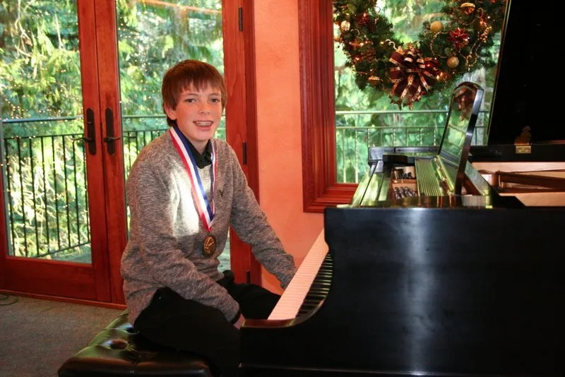 Jamison at the Piano