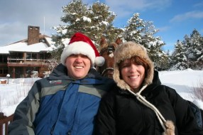 Suzi and me on the sleigh ride