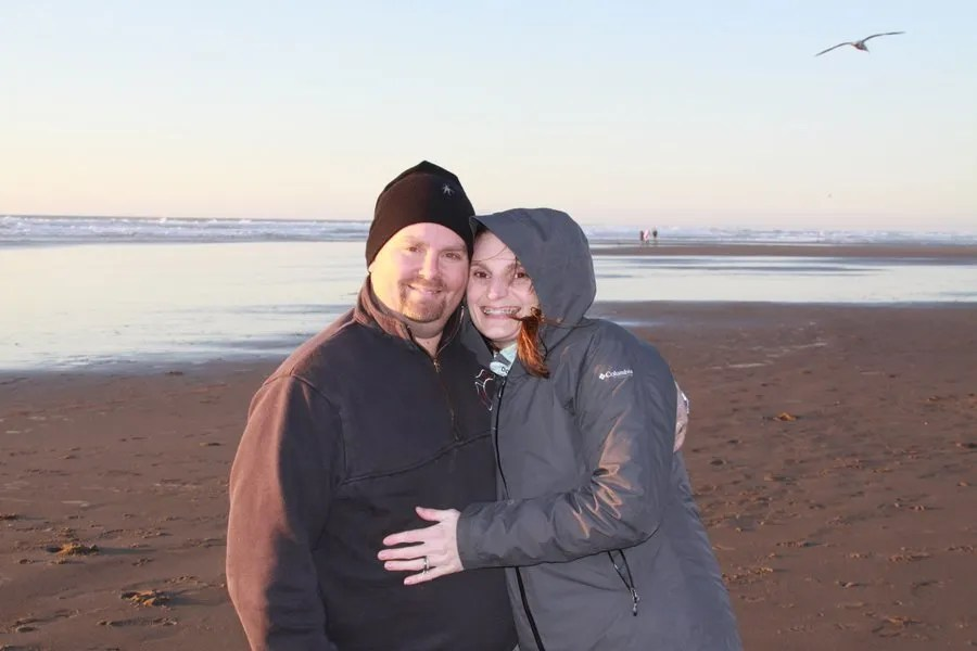 Dave and Rachel on the Oregon coast