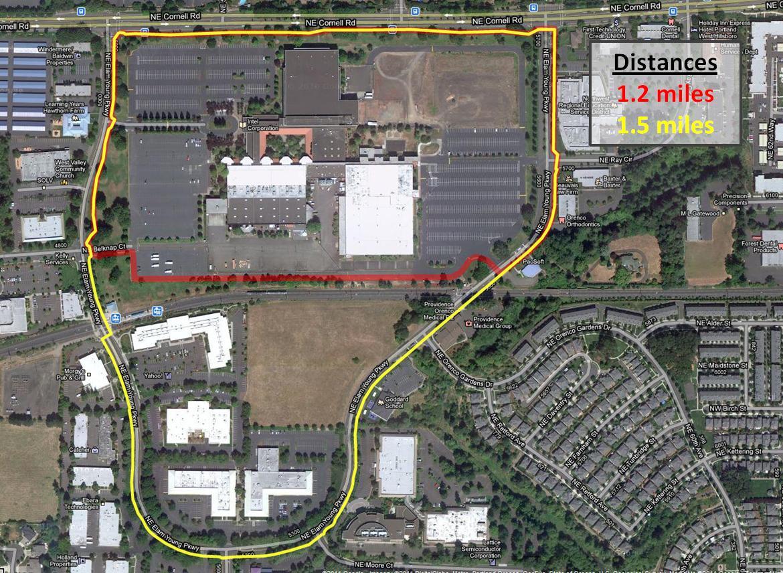 Intel Hawthorn Farm Walking Routes