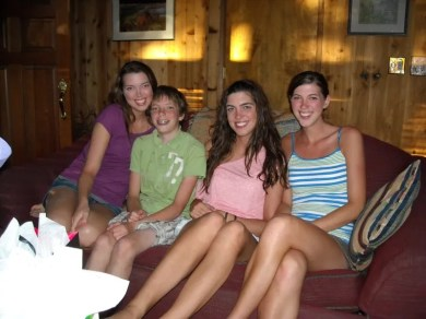 Melissa, Jamison, Heather, and Ashley