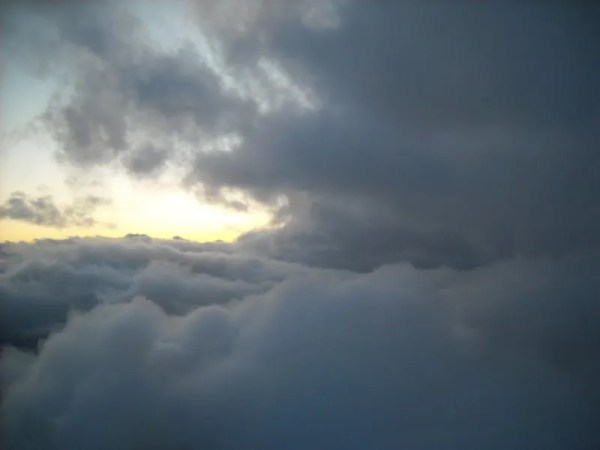 Entering the clouds