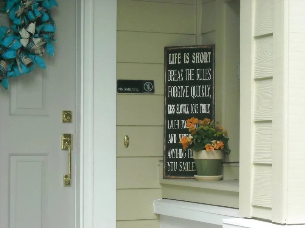 "I bet the ""No Soliciting"" sign trumps the other"