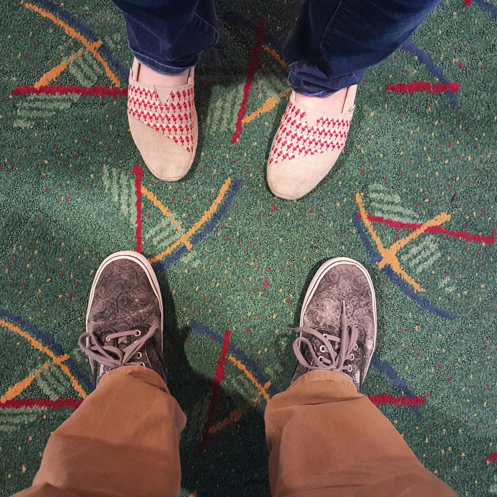 PDX carpet - toe to toe with my sweetheart
