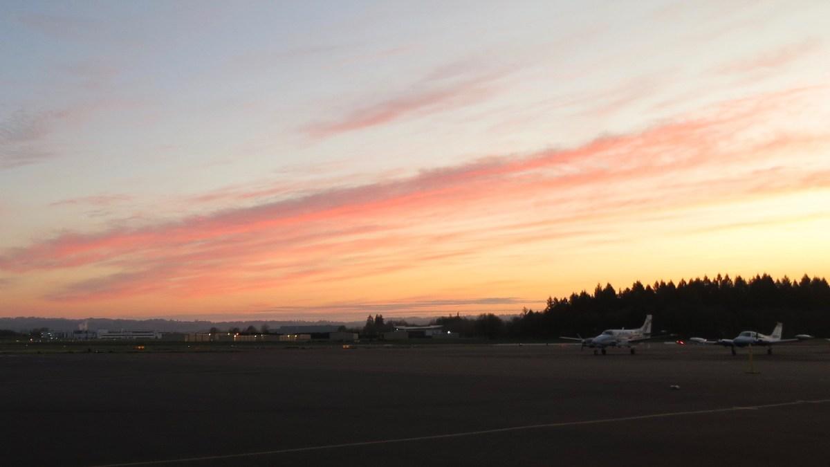 Sunrise at the Hillsboro Airport